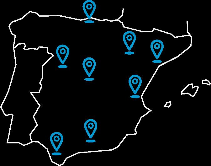 Mapa sedes Fe y Vida