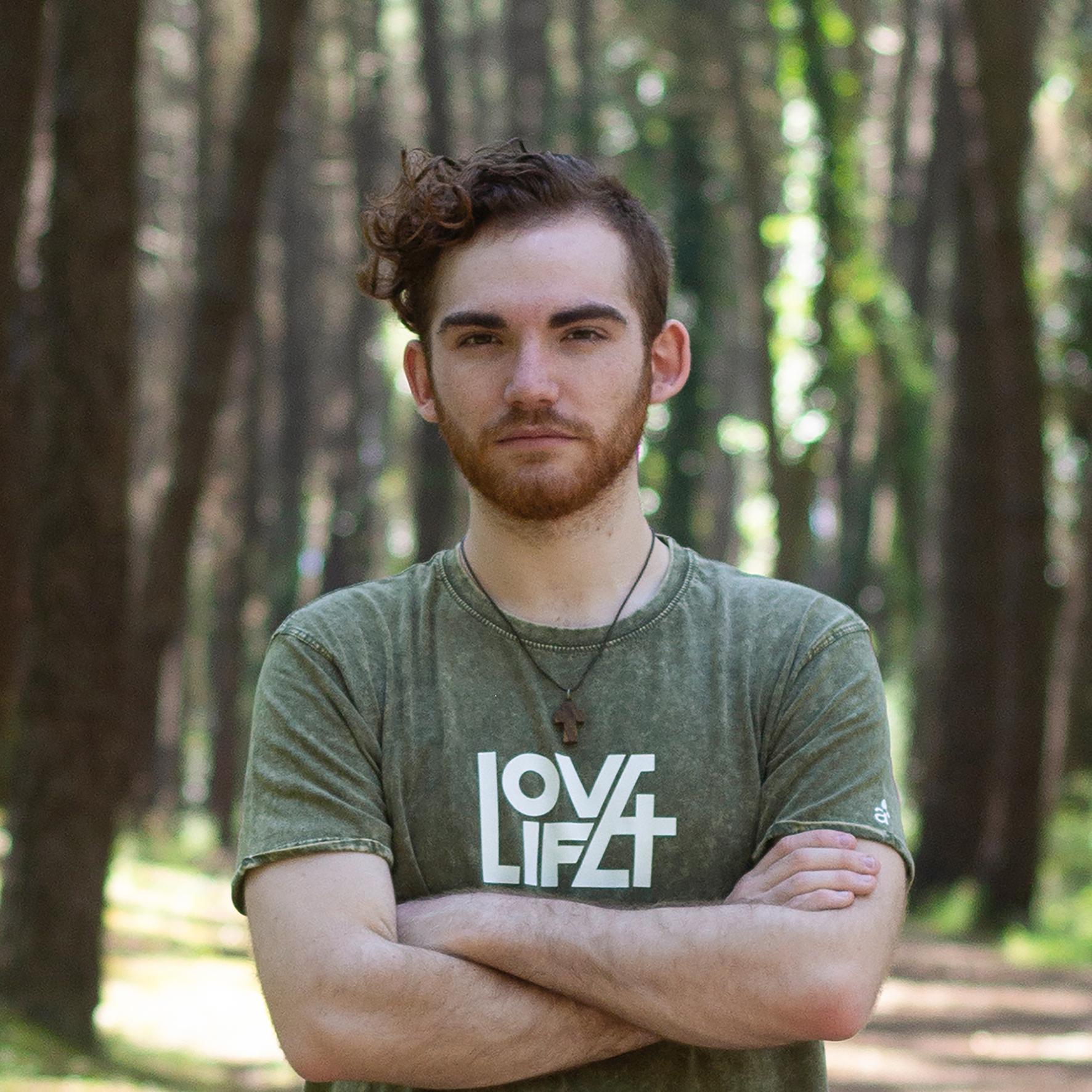 Camiseta cristiana Love / Life chico